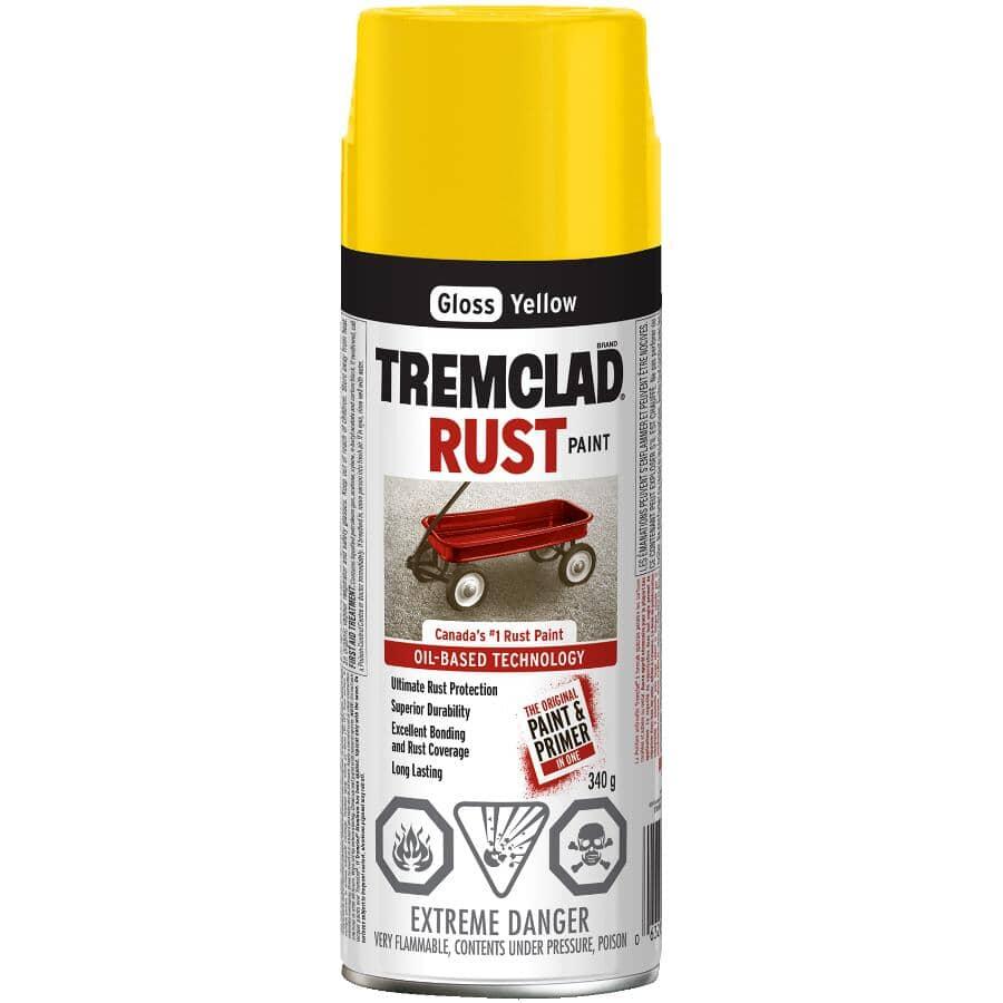 TREMCLAD:Rust Spray Paint - Gloss Yellow, 340 g