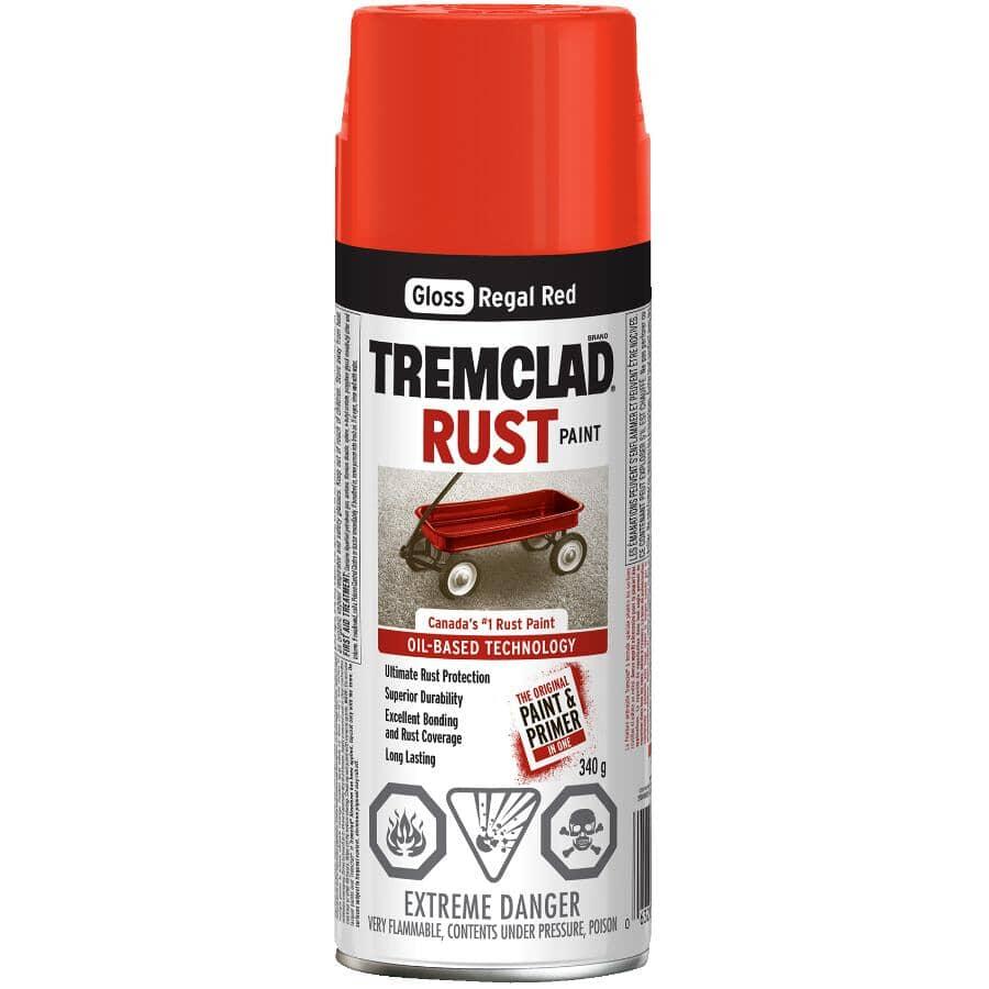 TREMCLAD:Rust Spray Paint - Gloss Regal Red, 340 g