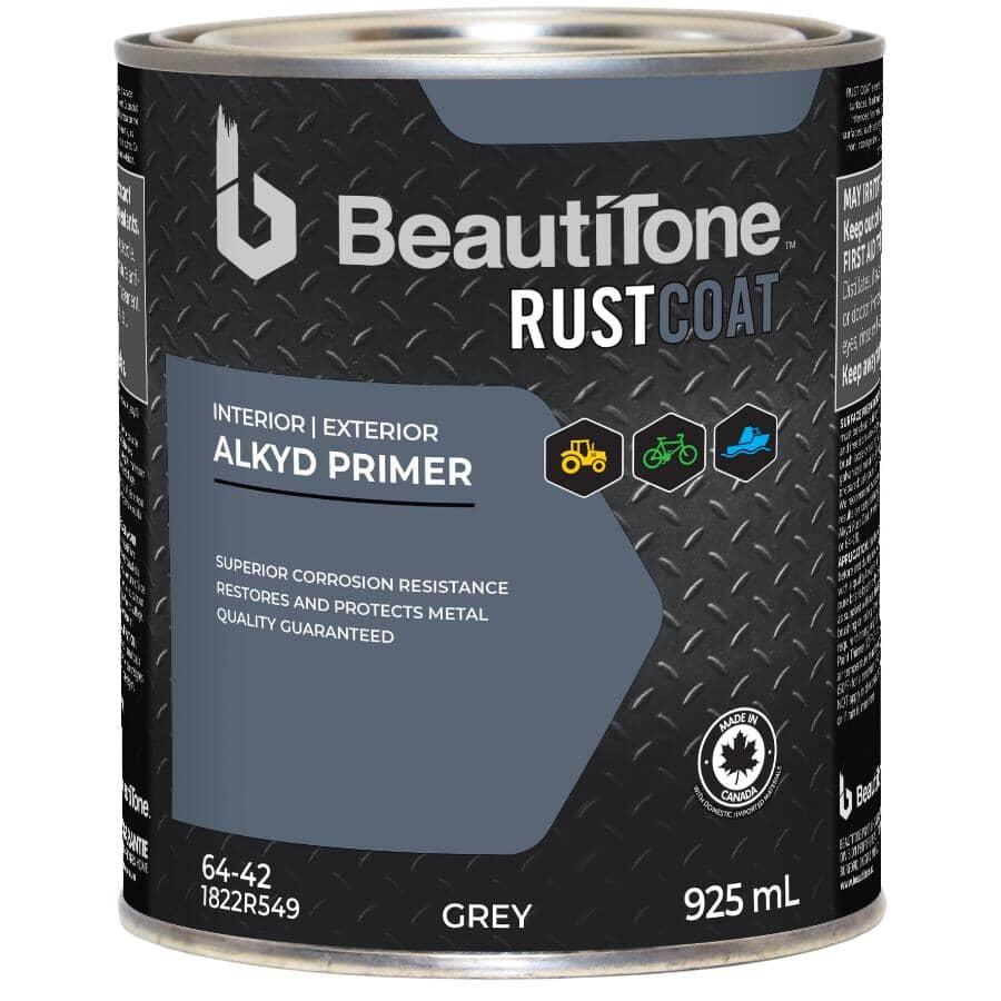 BEAUTI-TONE RUST COAT:Apprêt antirouille à l'alkyde, gris, 946 ml
