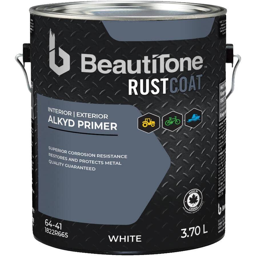 BEAUTI-TONE RUST COAT:Apprêt antirouille à l'alkyde, blanc, 3,7 L