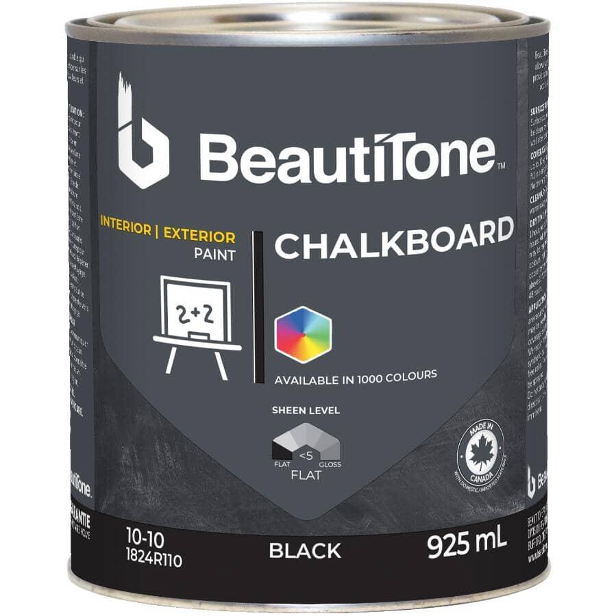 BEAUTI-TONE:Interior / Exterior Chalkboard Paint - Black, 946 ml