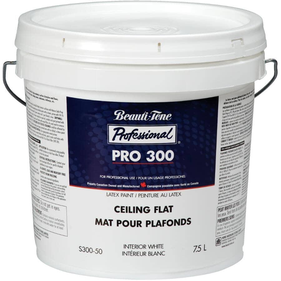 BEAUTI-TONE PROFESSIONAL:Peinture au latex pour plafond Pro 300, blanc mat, 7,5 L