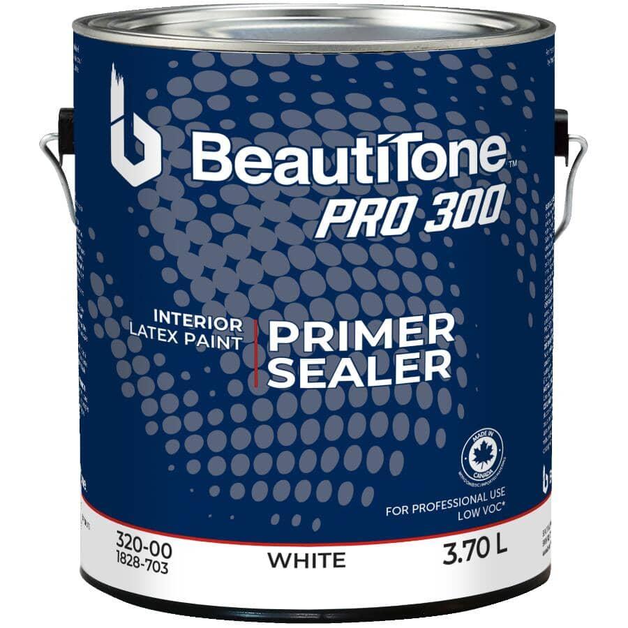 BEAUTI-TONE PROFESSIONAL:Pro 300 Interior Latex Primer Sealer - White, 3.7 L