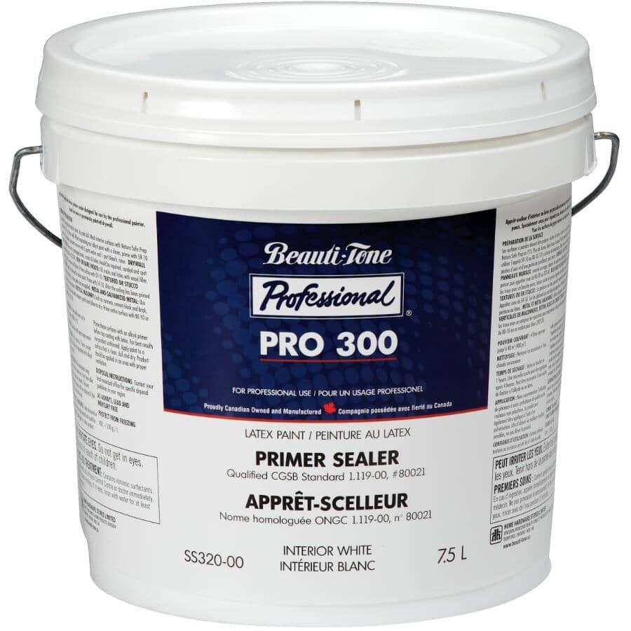 BEAUTI-TONE PROFESSIONAL:Pro 300 Interior Latex Primer Sealer - White, 7.5 L