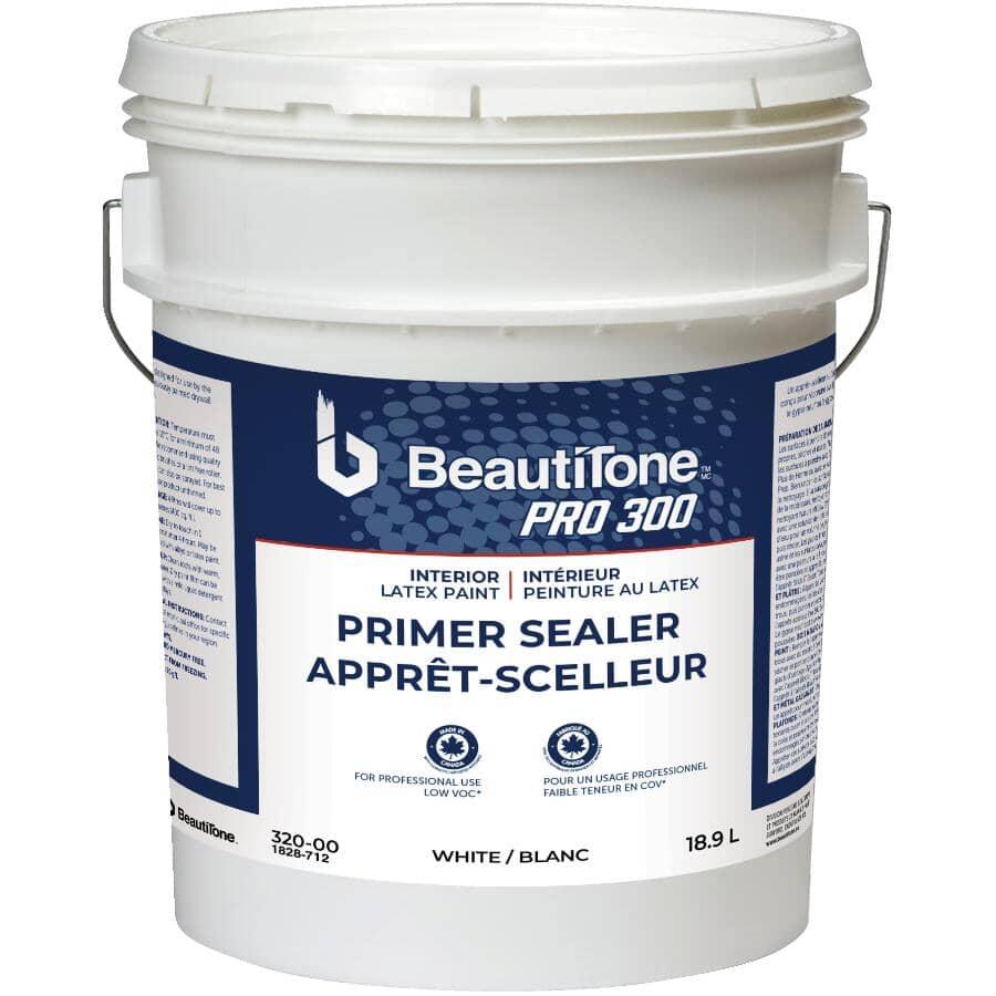 BEAUTI-TONE PROFESSIONAL:Pro 300 Interior Latex Primer Sealer - White, 18.9 L