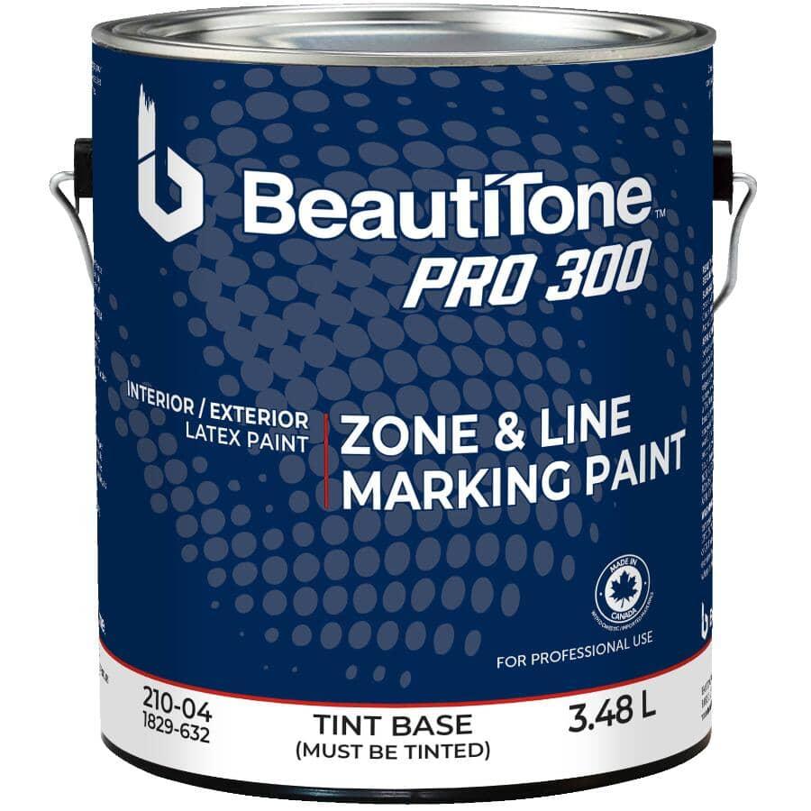 BEAUTI-TONE PROFESSIONAL:Peinture au latex Pro 300 pour traçage de zone et de ligne, base à teinter, 3,48 L