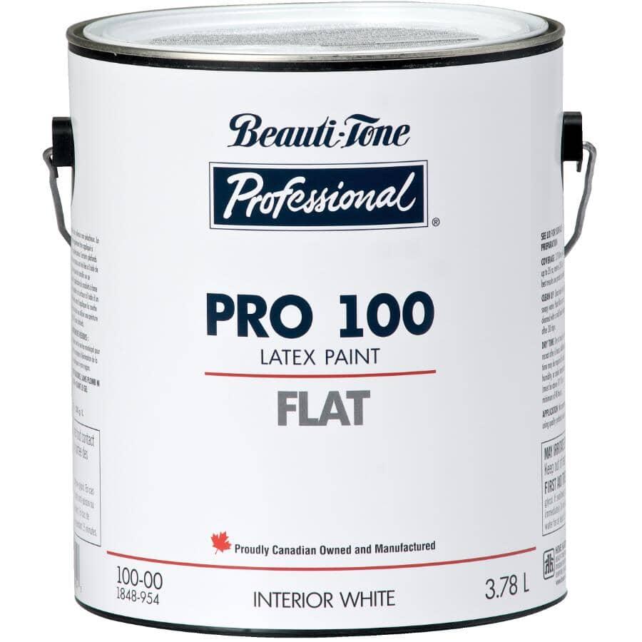 BEAUTI-TONE PROFESSIONAL:Peinture au latex Pro 100 pour l'intérieur blanc mat, 3,7 L