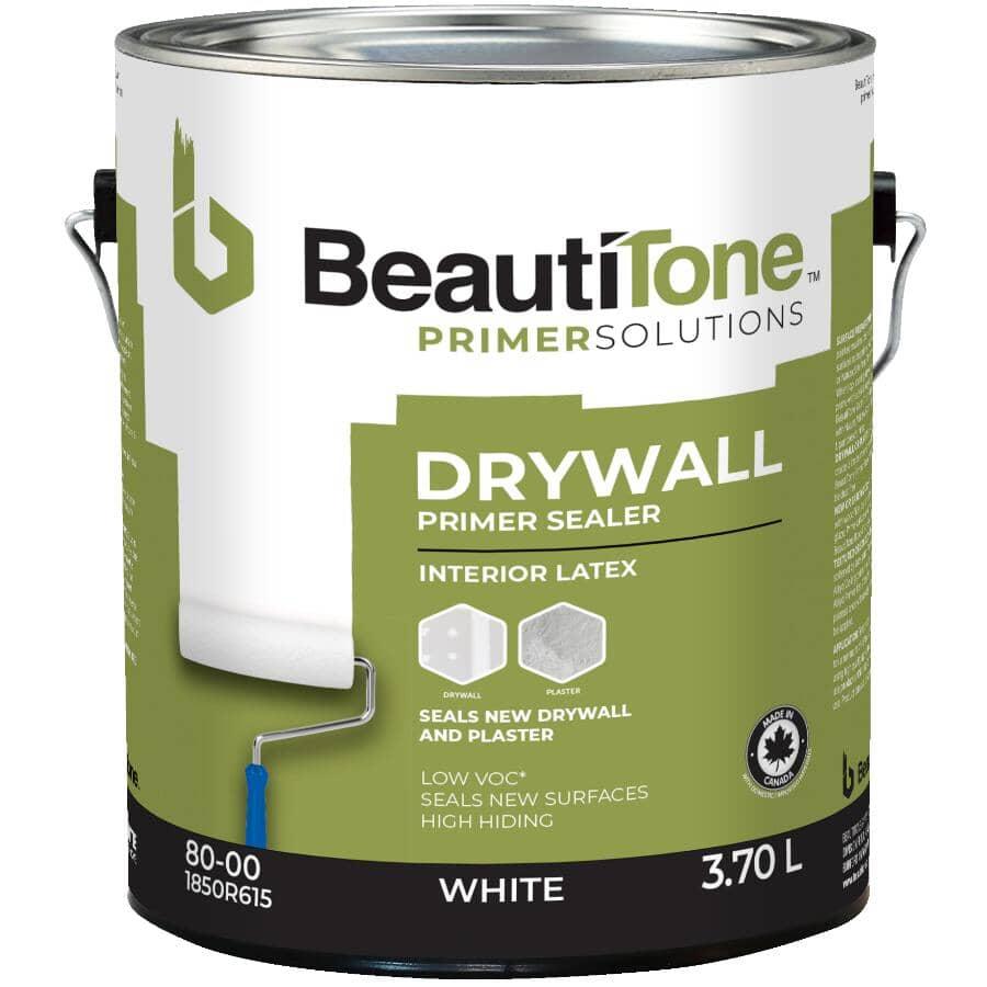 BEAUTI-TONE:Interior Latex Drywall Primer Sealer - White, 3.7 L