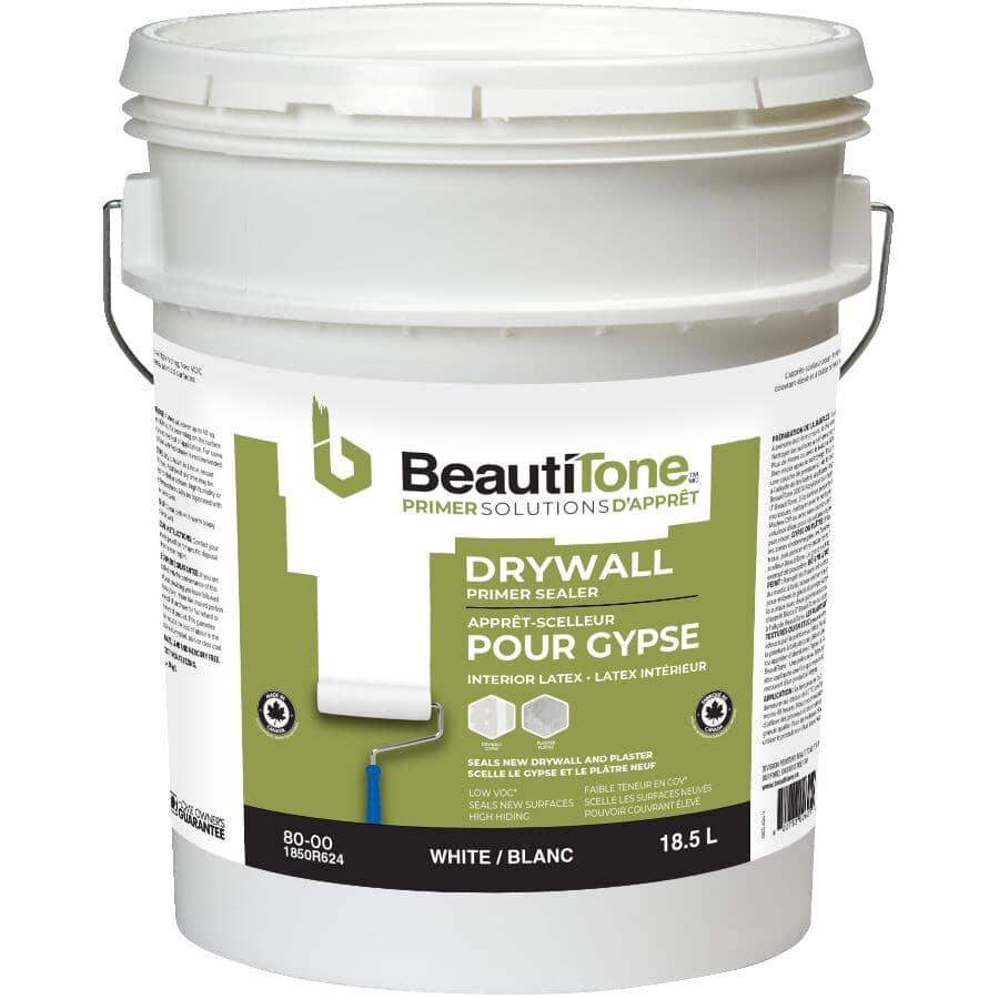BEAUTI-TONE:Interior Latex Drywall Primer Sealer - White, 18.9 L