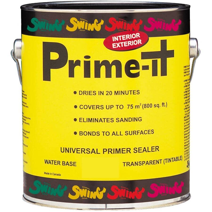 CIRCA 1850:Prime-It Latex Primer-Sealer - Translucent, 3.78 L