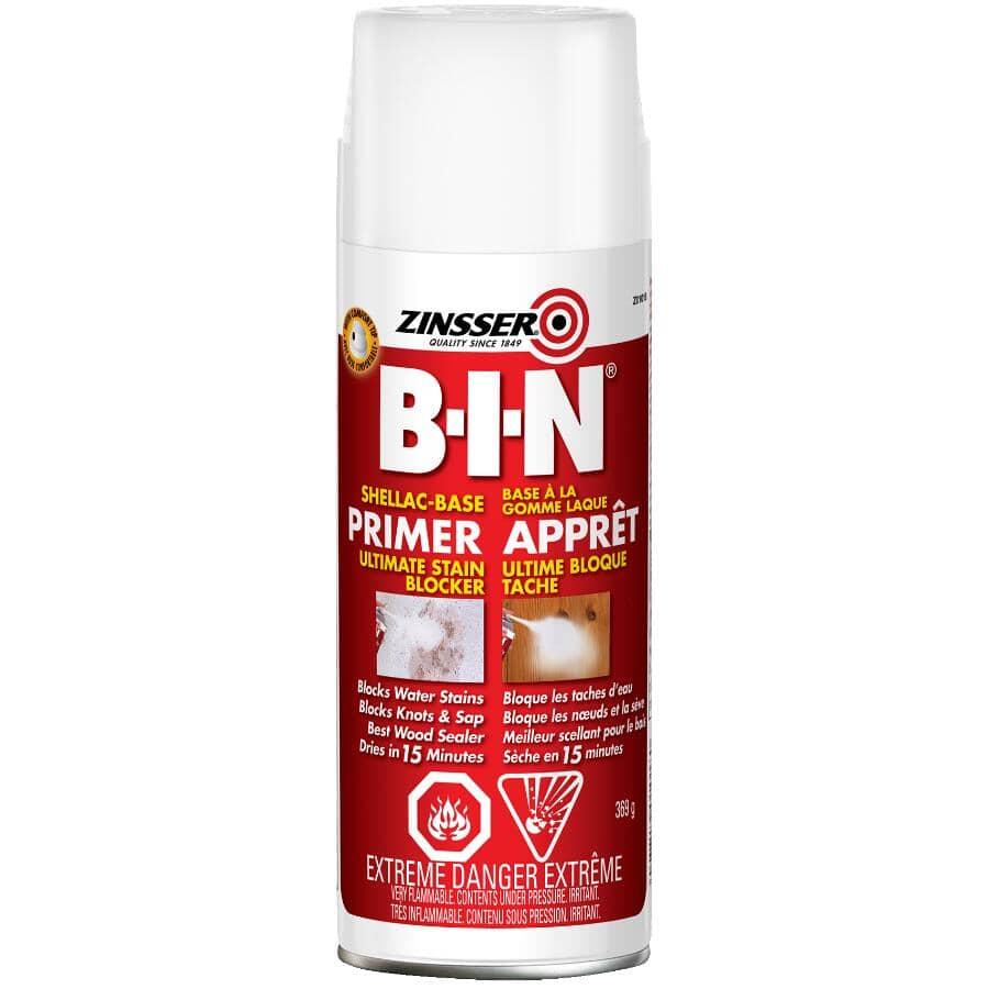 ZINSSER:Apprêt-scellant en vaporisateur à l'alkyde B-I-N, blanc, 369 g