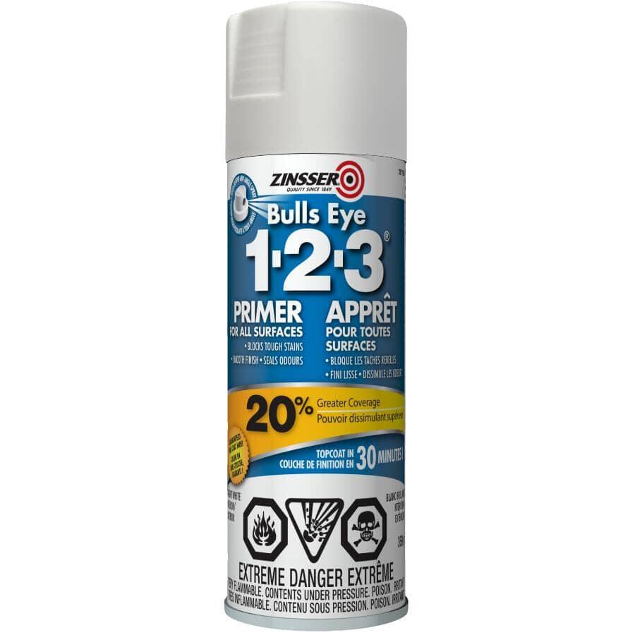 ZINSSER:Bulls Eye 1-2-3 Latex Primer-Sealer Spray - White, 369 g
