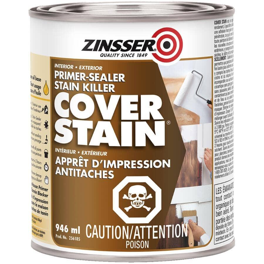 ZINSSER:Cover Stain Alkyd Primer-Sealer - White, 946 ml