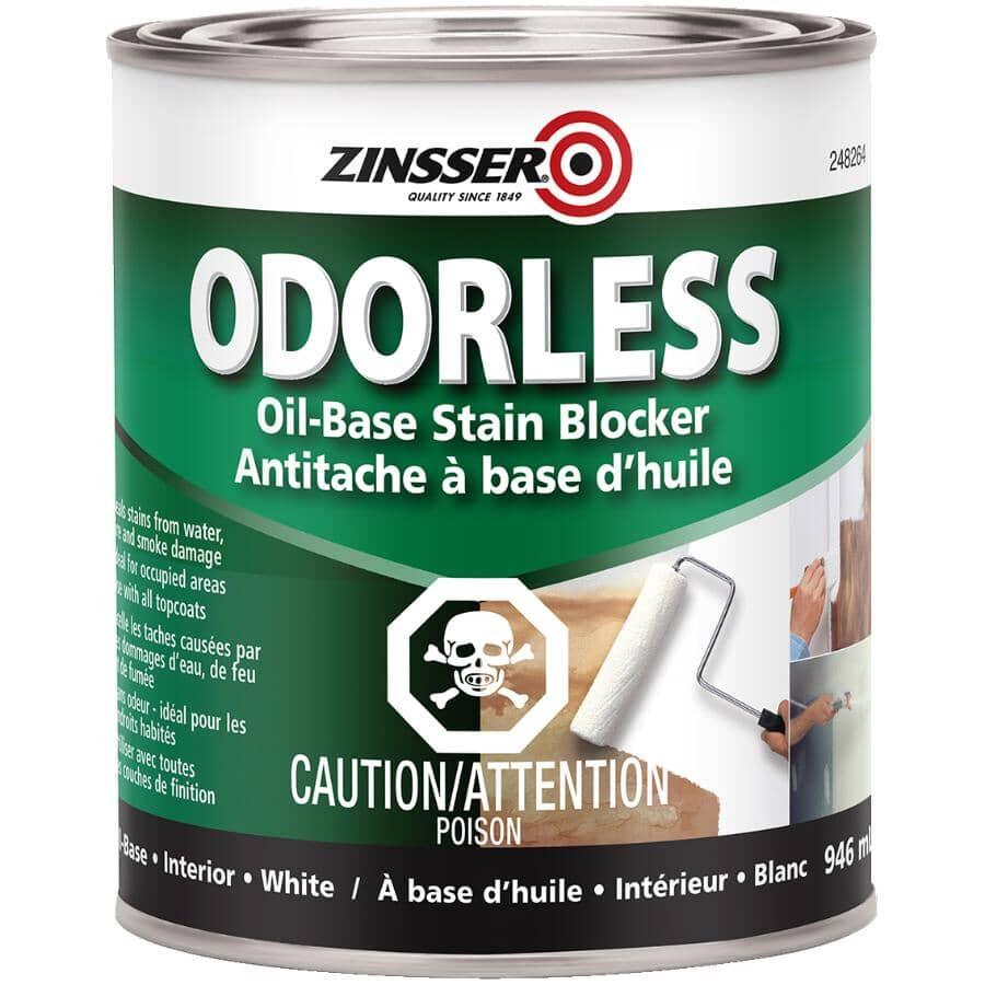 ZINSSER:Odorless Oil-Based Stain Blocker Alkyd Primer - White, 946 ml