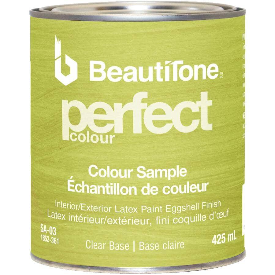 BEAUTI-TONE:Interior / Exterior Latex Eggshell Perfect Colour Paint Sample - Clear Base, 425 ml
