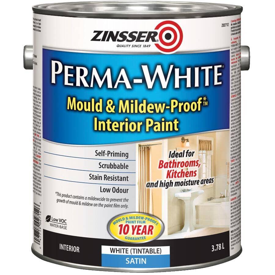 ZINSSER:Peinture intérieure anti-moisissure Perma-White, satiné, 3,78 L