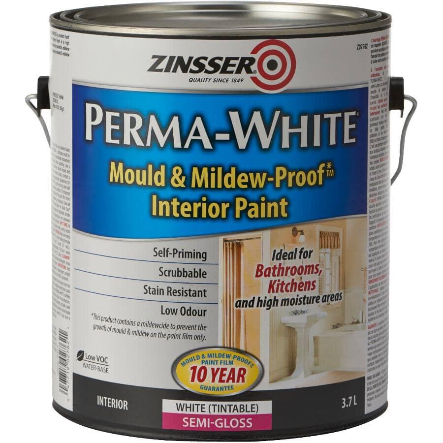 ZINSSER:Perma-White Mould & Mildew-Proof Interior Paint - Semi-Gloss, 3.78 L