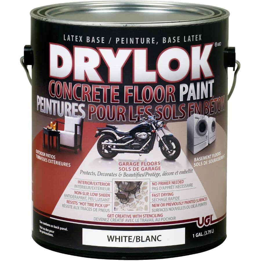 DRYLOK:Concrete Floor Latex Paint - White, 3.79 L
