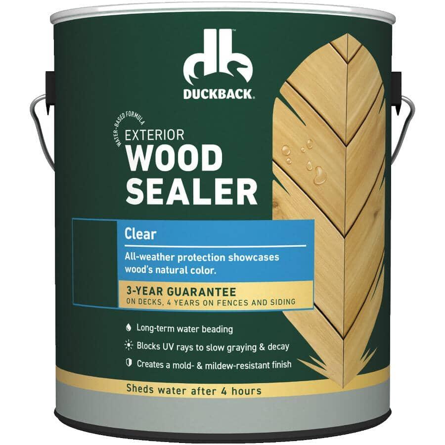 DUCKBACK:Exterior Wood Sealer - Clear, 3.7 L