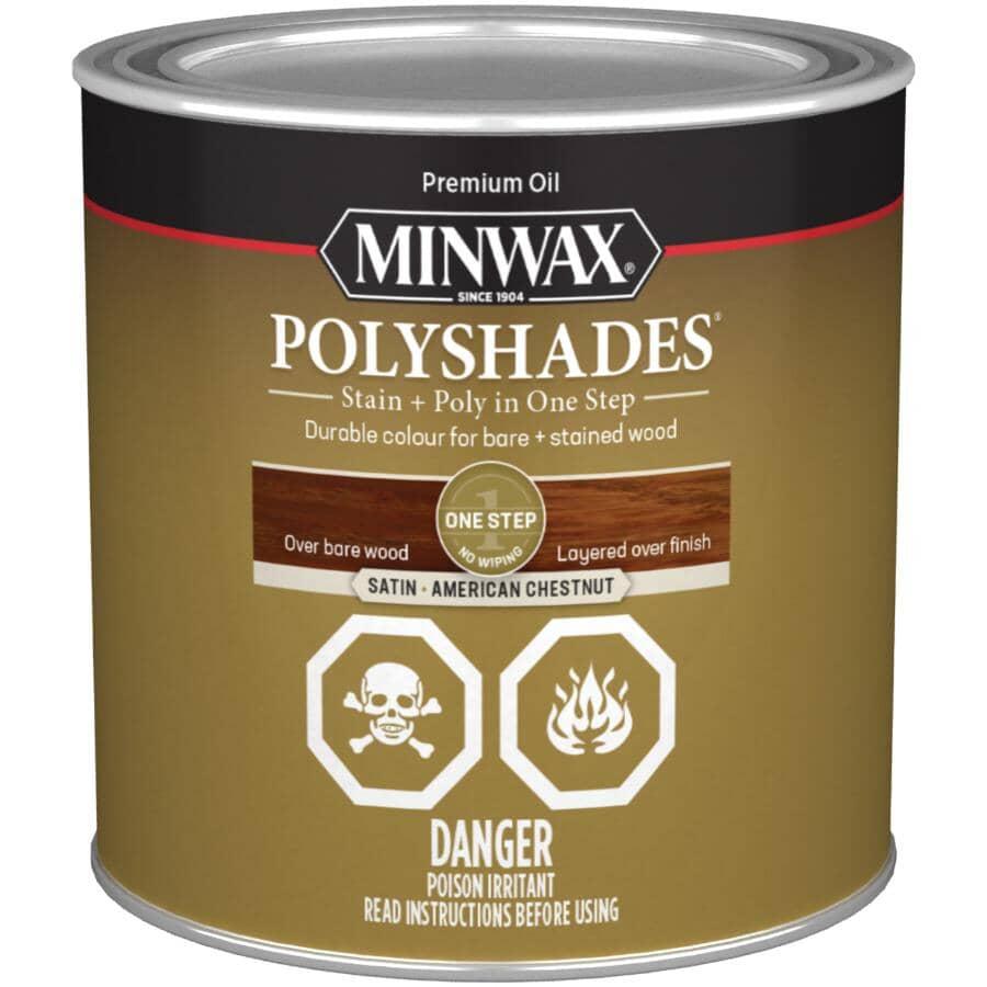 MINWAX:PolyShades Stain & Polyurethane - Satin Chestnut, 236 ml