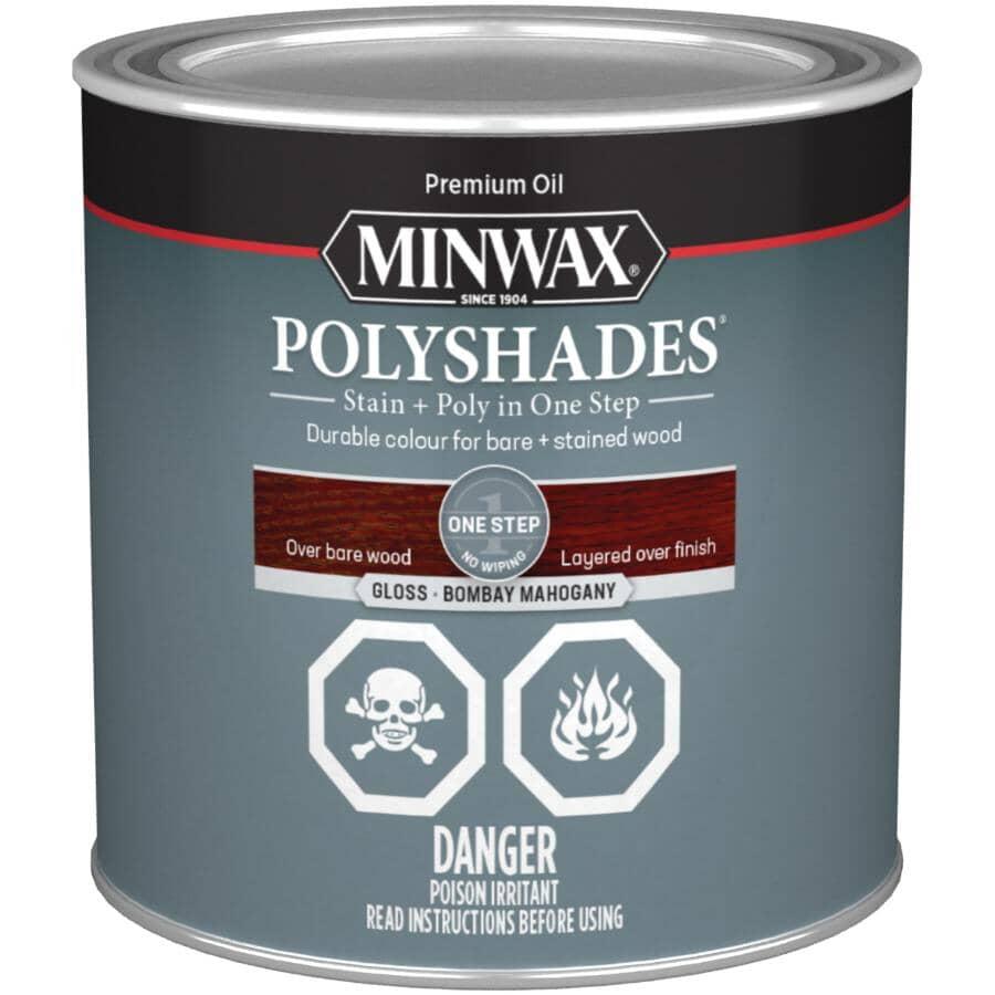 MINWAX:PolyShades Stain & Polyurethane - Gloss Mahogany, 236 ml