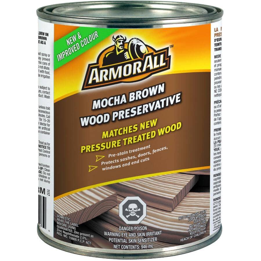 ARMOR ALL:Wood Preservative - Mocha Brown, 946 ml