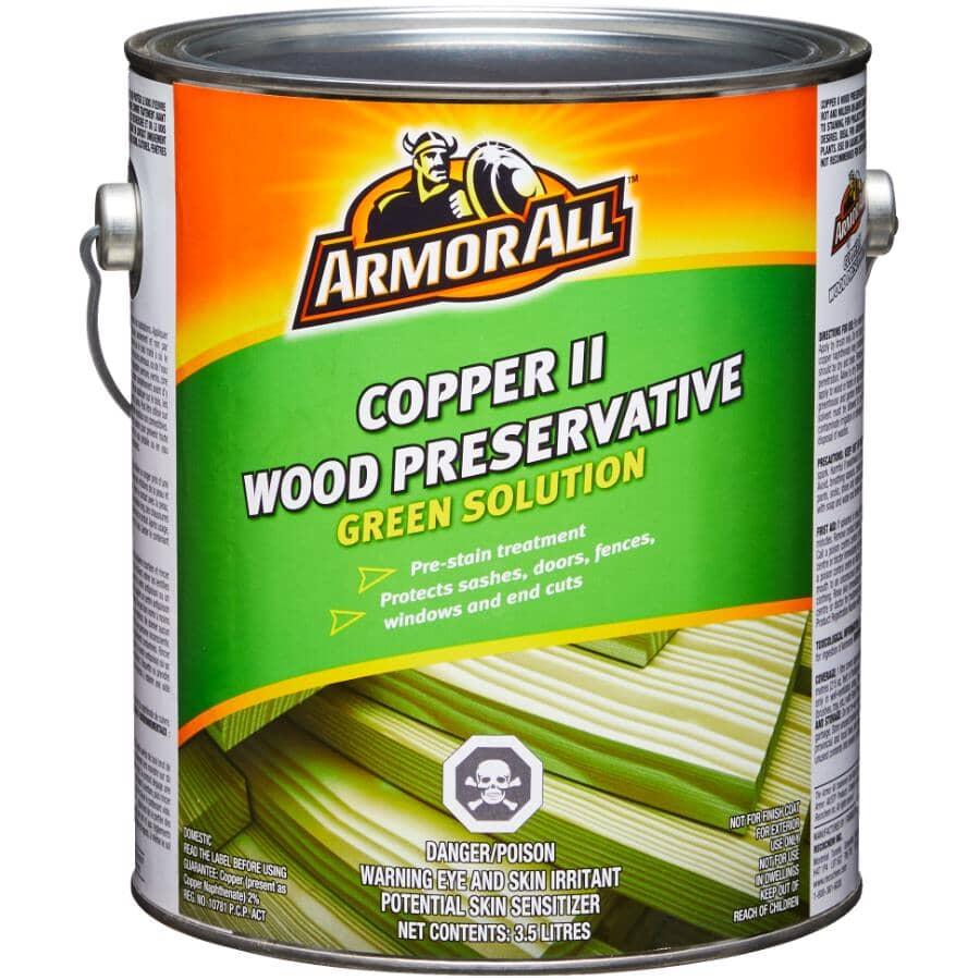 ARMOR ALL:Wood Preservative - Copper Green, 3.5 L