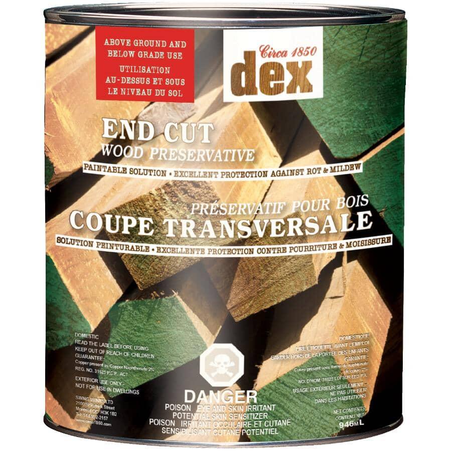 CIRCA 1850:Dex End Cut Wood Preserver - Soft Green, 946 ml