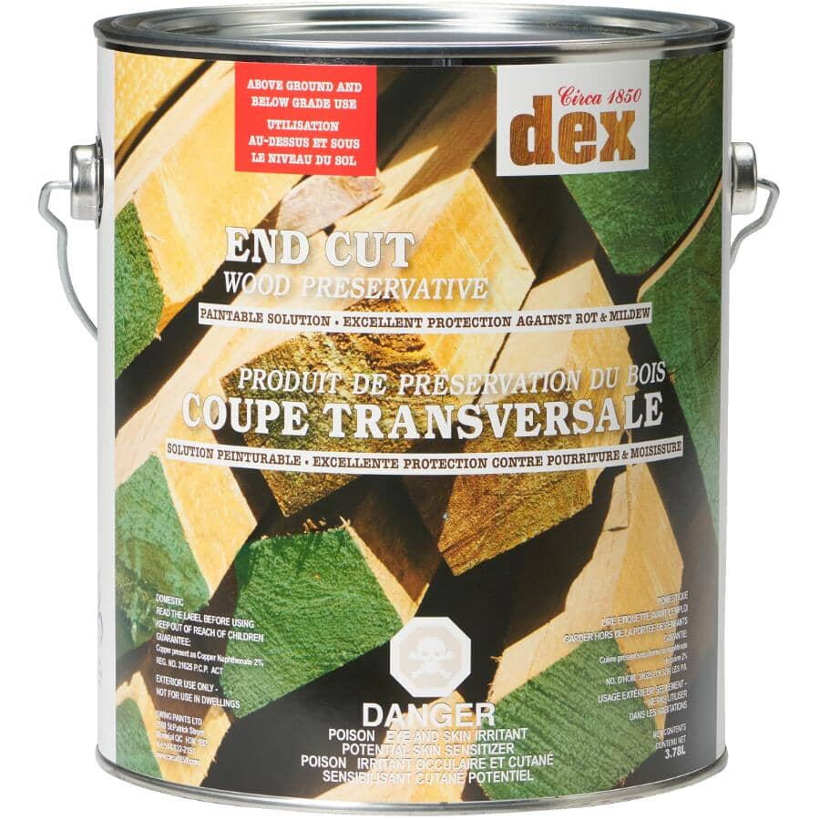 CIRCA 1850:Dex End Cut Wood Preserver - Soft Green, 3.78 L