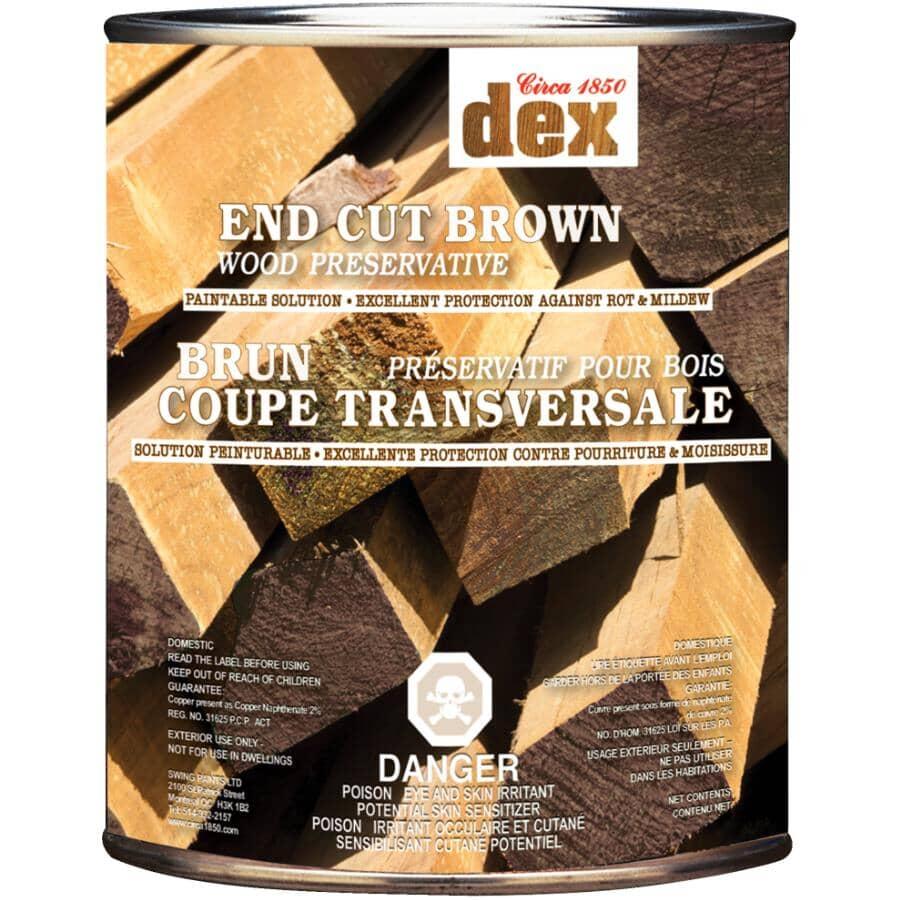 CIRCA 1850:Dex End Cut Wood Preserver - Brown, 946 ml