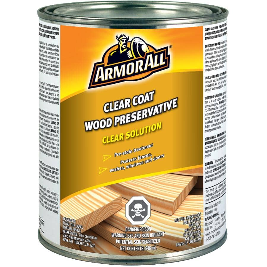 ARMOR ALL:Wood Preservative - Clear Coat, 946 ml