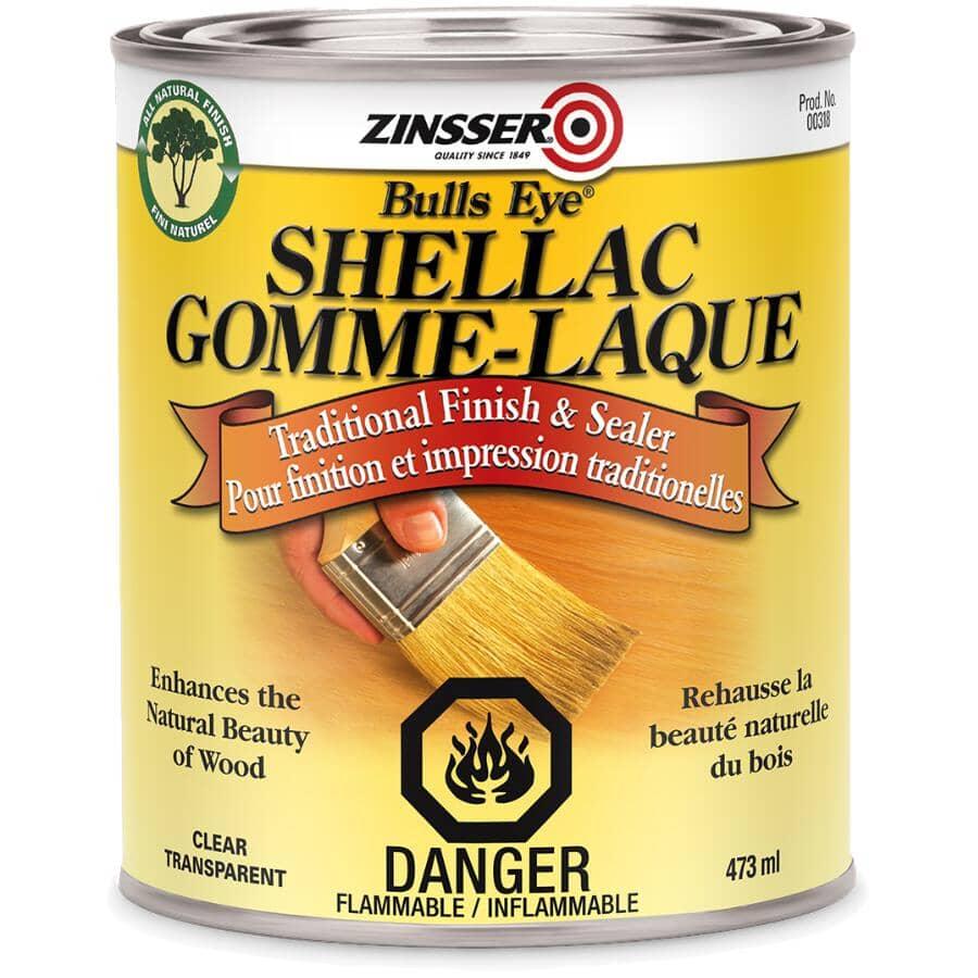ZINSSER:Scellant à la gomme laque pour finition Bulls Eye, transparent, 473 ml