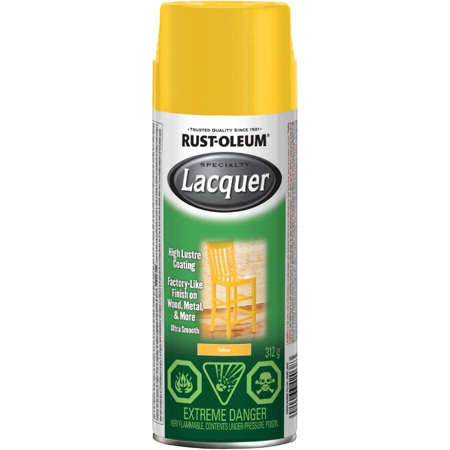RUST-OLEUM:Specialty Lacquer Spray - Gloss Yellow, 312 g