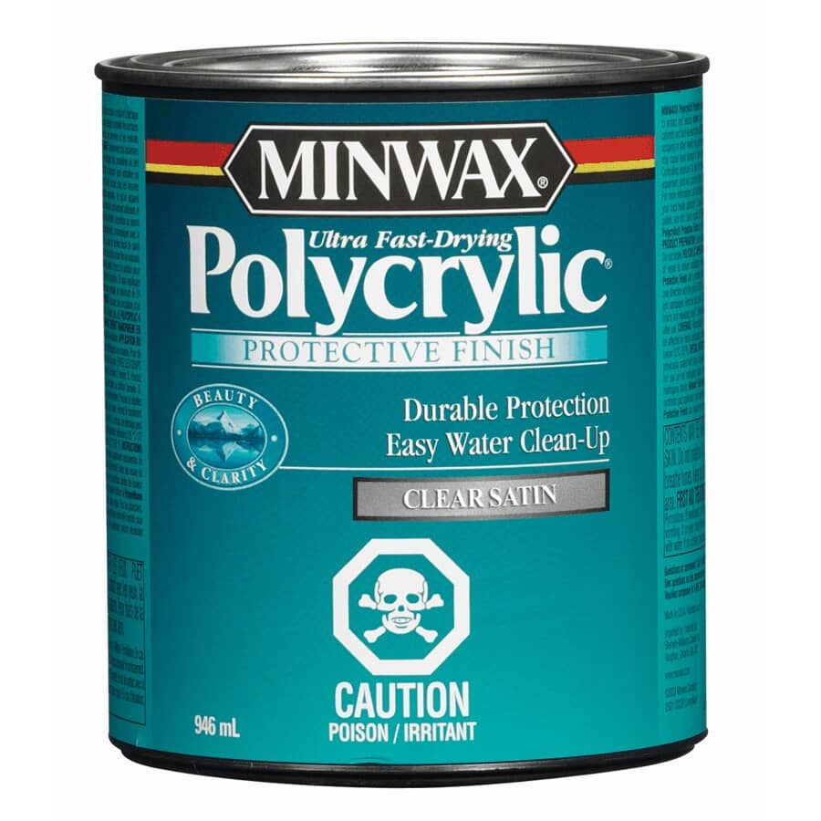 MINWAX:Polycrylic Protective Finish - Clear Satin, 946 ml