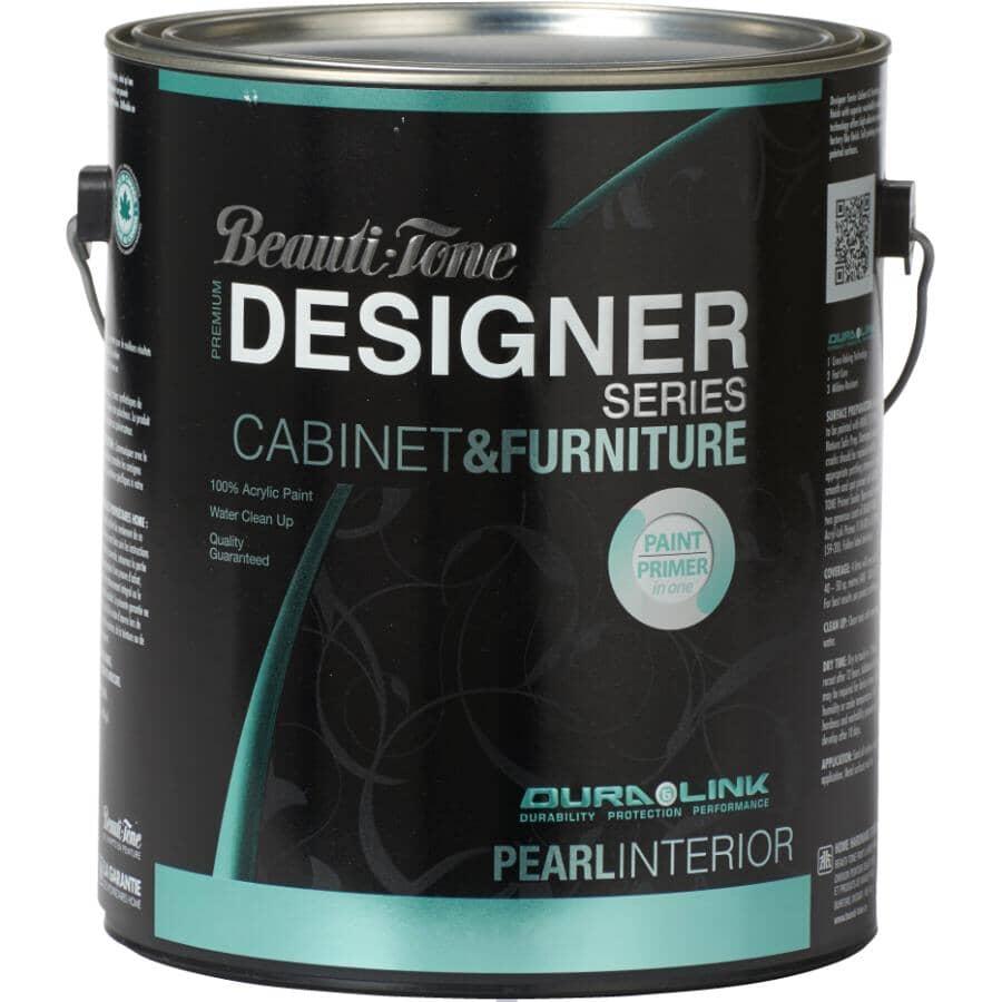 BEAUTI-TONE DESIGNER SERIES:Cabinet & Furniture Interior Acrylic Paint - Black, 3.7 L