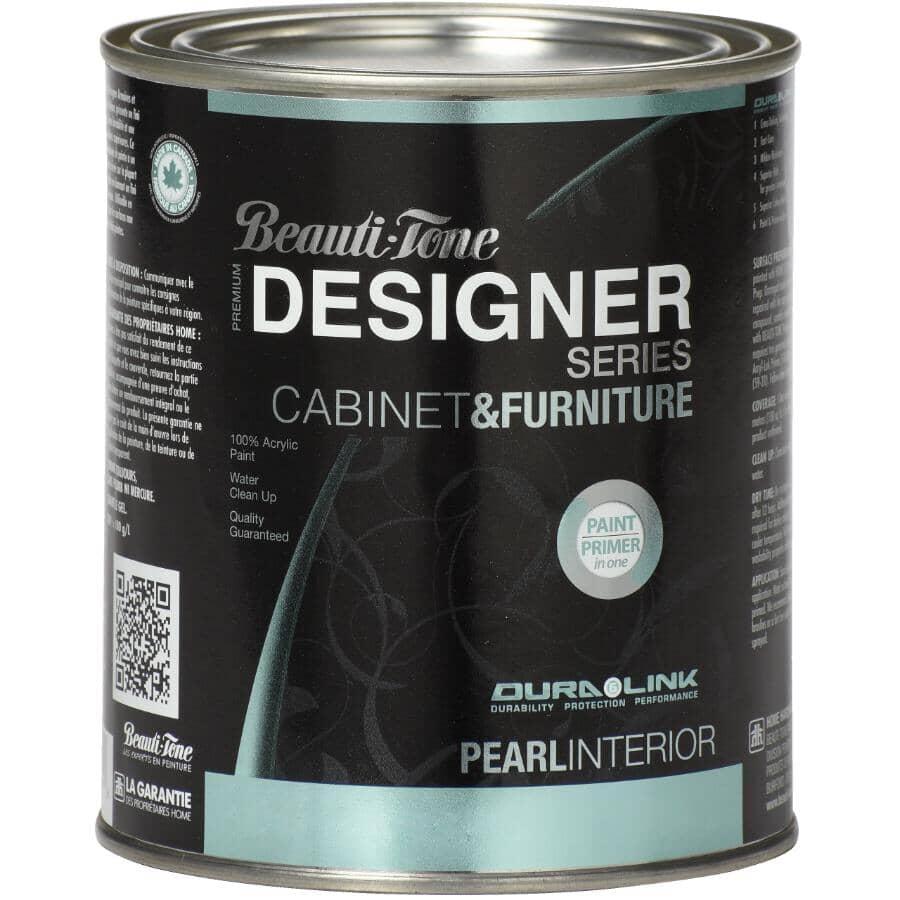 BEAUTI-TONE DESIGNER SERIES:Cabinet & Furniture Interior Acrylic Paint - Pearl Espresso, 925 ml