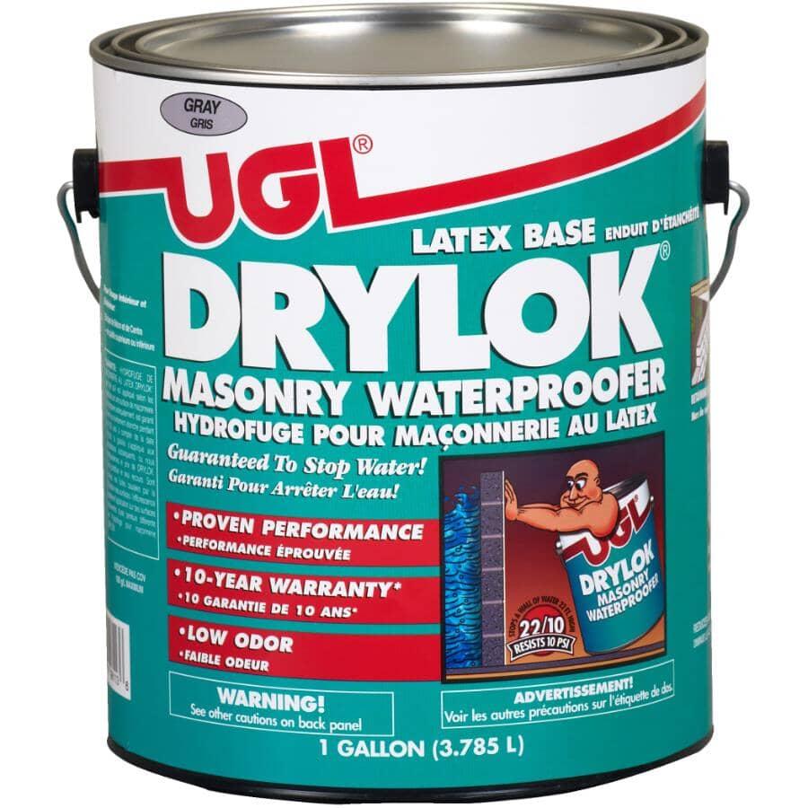 DRYLOK:Masonry Latex Base Waterproofer - Grey, 3.78 L