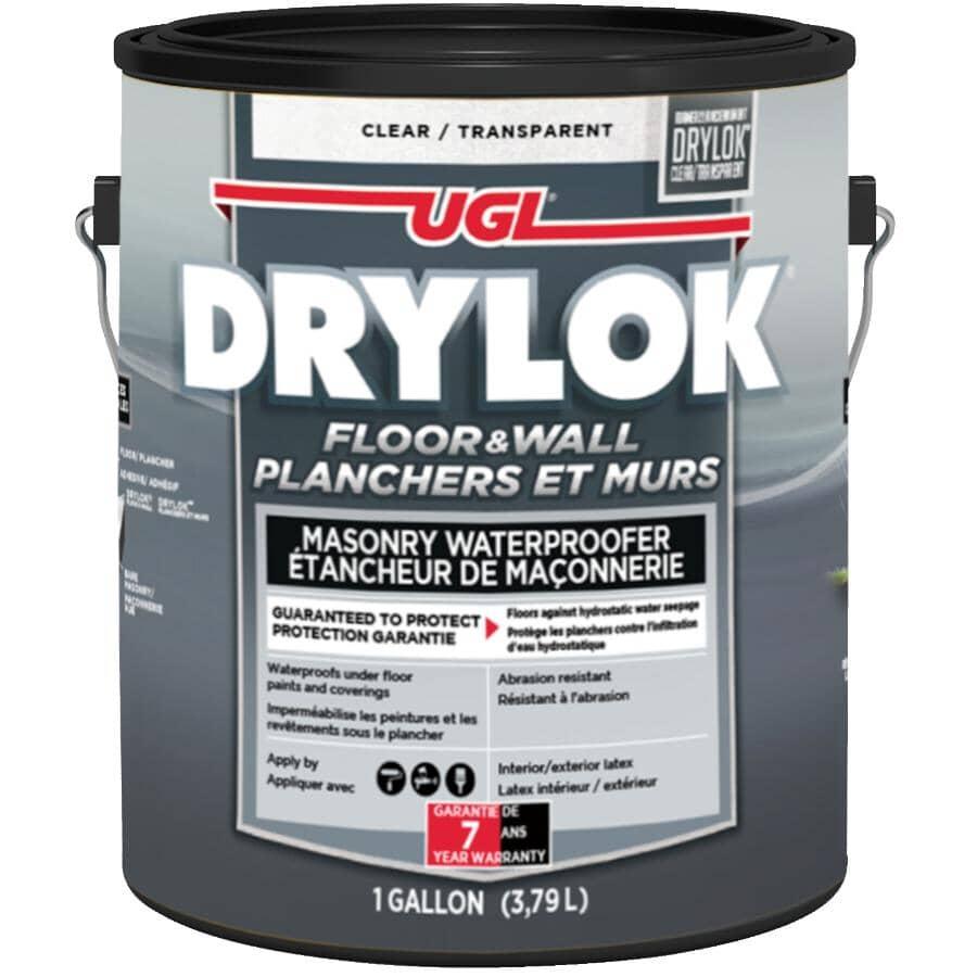 DRYLOK:Masonry Latex Base Waterproofer - Clear, 3.78 L