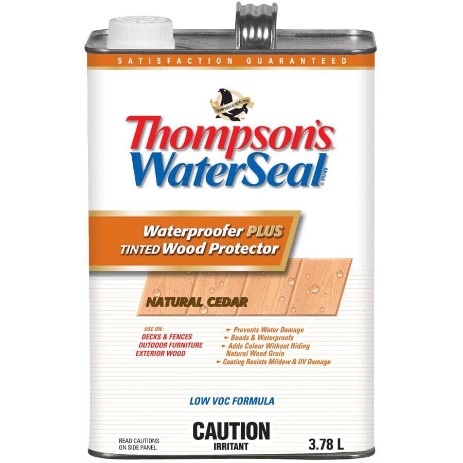 THOMPSON'S WATERSEAL:Waterproofer Plus Tinted Wood Protector - Natural Cedar, 3.78 L