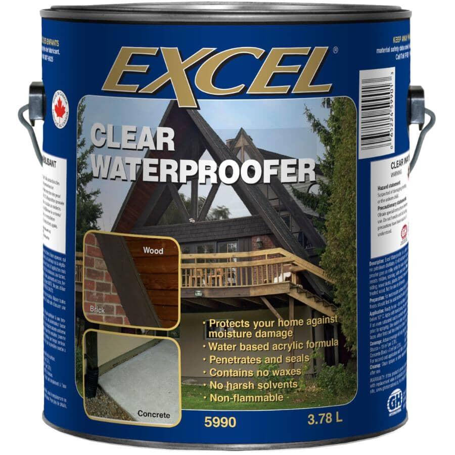 EXCEL:Acrylic Waterproofer Sealant - Clear, 3.78 L