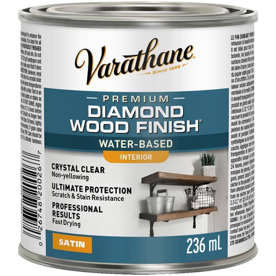 VARATHANE:Premium Interior Diamond Wood Finish - Crystal Clear Satin, 236 ml
