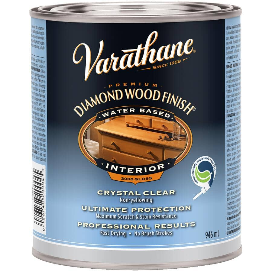 VARATHANE:Premium Interior Diamond Wood Finish - Crystal Clear Gloss, 946 ml