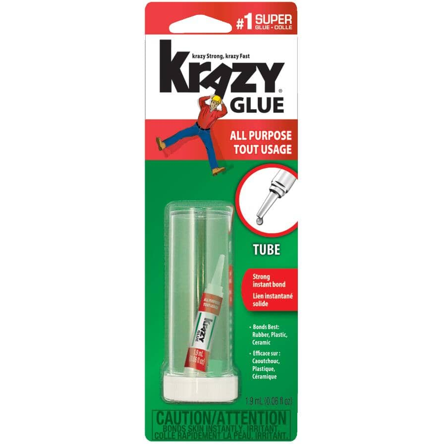 KRAZY GLUE:All Purpose Tube Super Glue - 1.9 ml