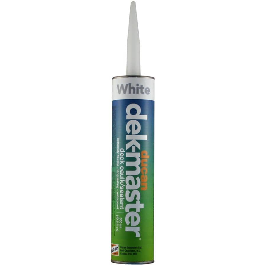 DUCAN:Dek-Master Deck Caulking - White, 300 ml