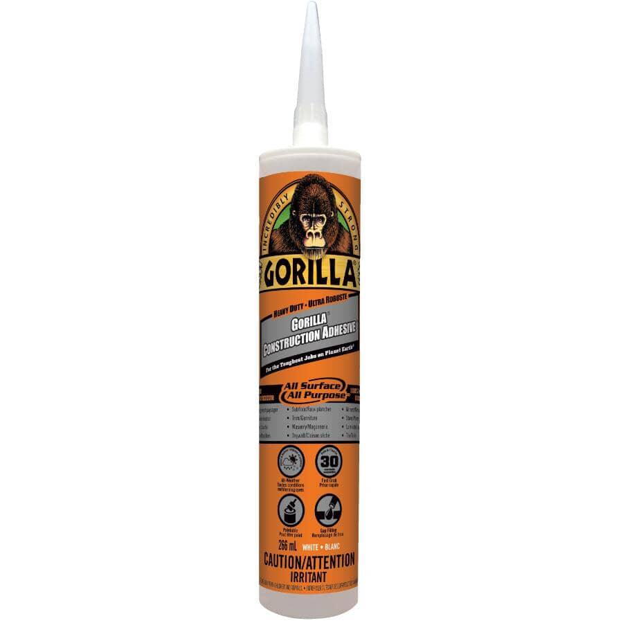 GORILLA:Adhésif de construction tout usage, blanc, 266 ml