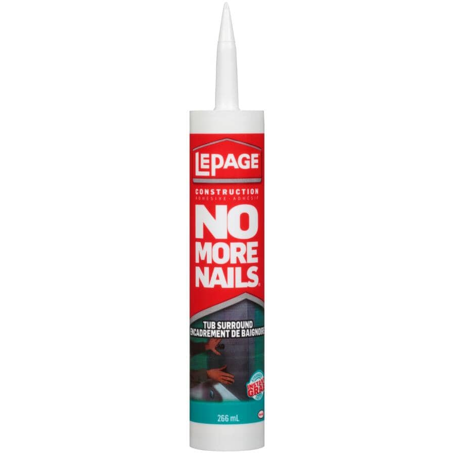 LEPAGE:No More Nails Tub Surround Construction Adhesive - 266 ml