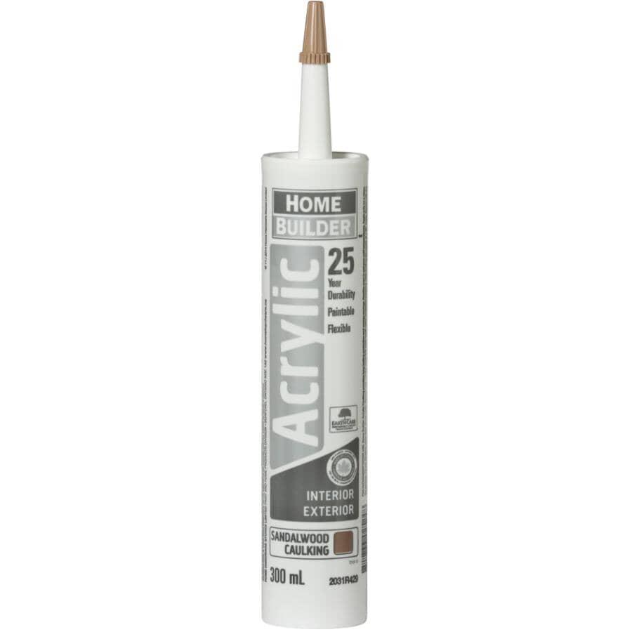 HOME BUILDER:25 Year All Purpose Acrylic Caulking - Sandalwood, 300 ml