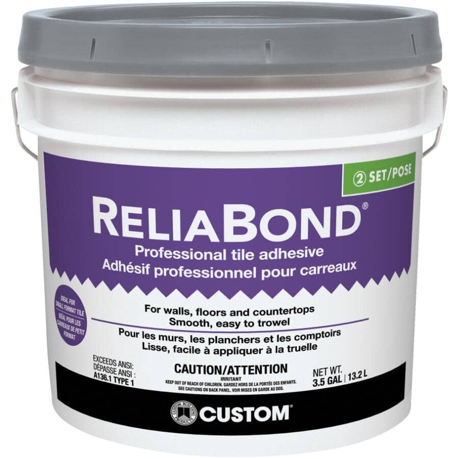 CUSTOM BUILDING PRODUCTS:Reliabond Ceramic Tile Adhesive - 13.2 L