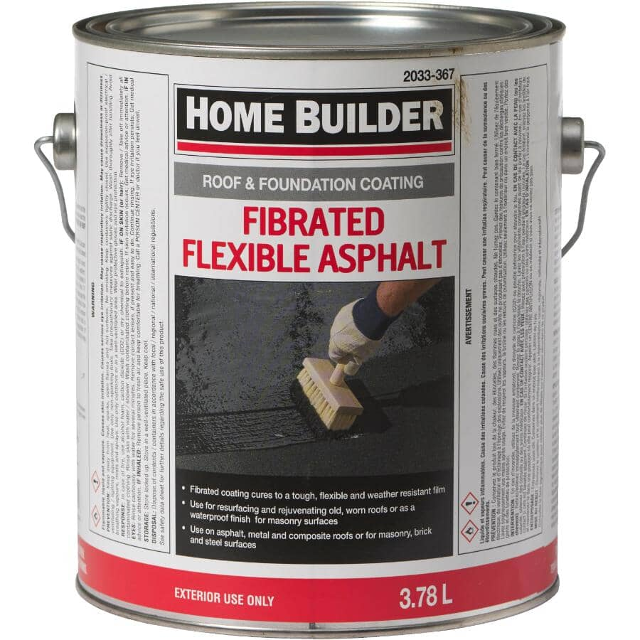 HOME BUILDER:Fibrated Roof & Foundation Coating - 3.78 L
