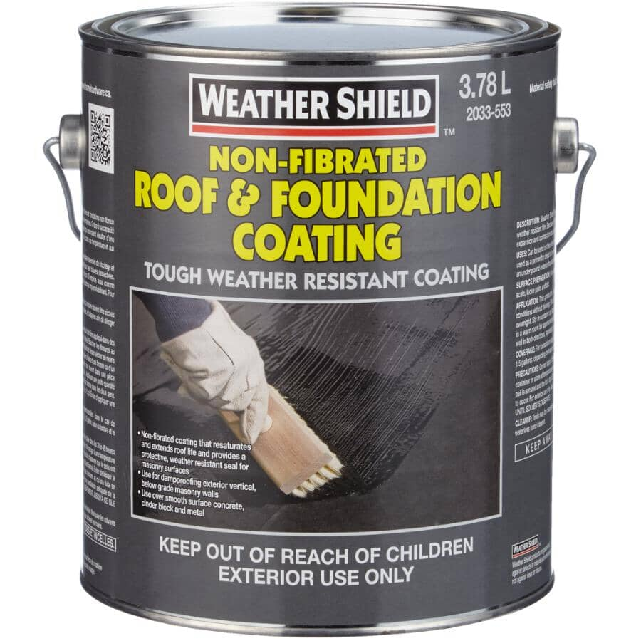 HOME BUILDER:Non-Fibrated Roof & Foundation Coating - 3.78 L